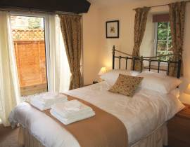Holiday cottage bedroom, Caldbeck