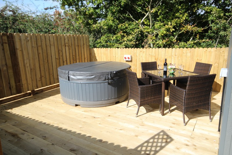 Wooden glamping lodge for 4 or 5 with hot tub in Caldbeck, North Lakes, Cumbria1