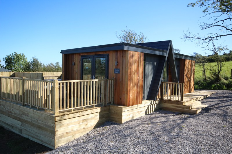 Wooden glamping lodge for 4 or 5 with hot tub in Caldbeck, North Lakes, Cumbria0