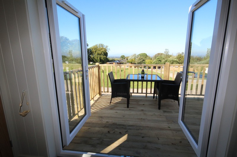 Wooden glamping lodge for 4 or 5 with hot tub in Caldbeck, North Lakes, Cumbria2