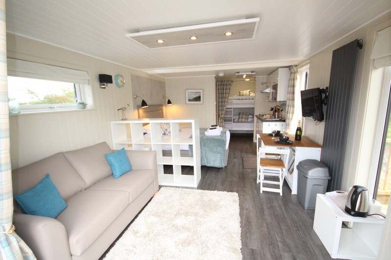 Wooden glamping lodge for 4 or 5 with hot tub in Caldbeck, North Lakes, Cumbria4