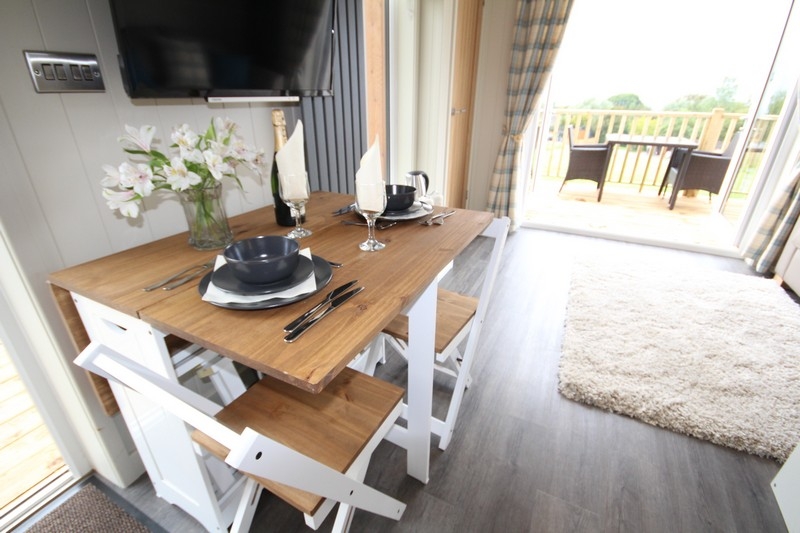 Wooden glamping lodge for 4 or 5 with hot tub in Caldbeck, North Lakes, Cumbria5